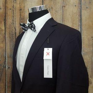 Calvin Klein Slim Sport Coat Mens 40L Wool Black